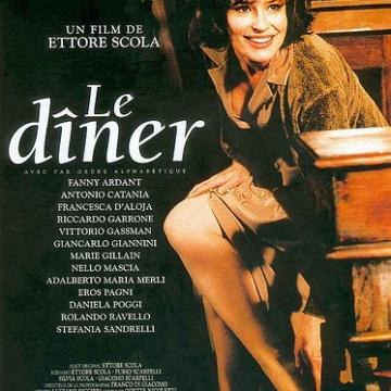 o cartaz francês de 'o jantar', com fanny ardant