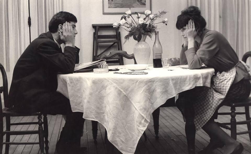 jean-claude brialy e anna karina (uma mulher é uma mulher)