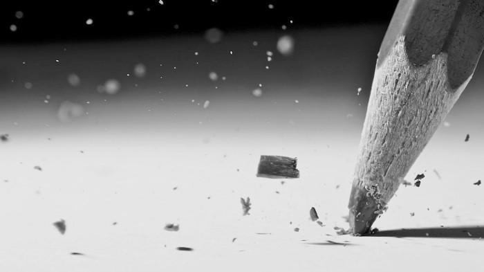 lápis frustrado