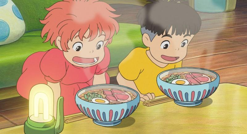 Ponyo, Sosuke e o lámen